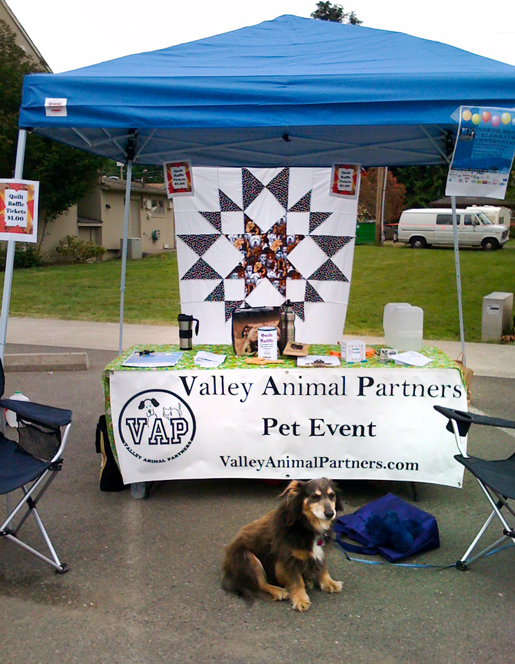 Elliot guarding VAP booth @ Fall City Days, WA 6-2009