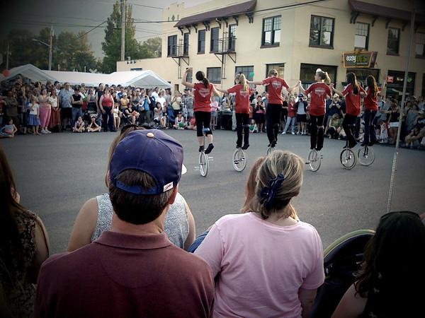 unicyclist team @ North Bend Block Party, WA 6-2009