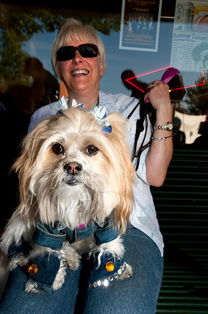 delightful in denim-canine couture-North Bend Block Party, WA 6-2009