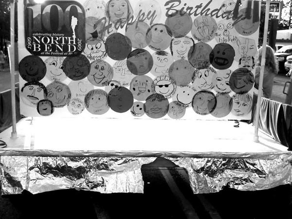 North Bend Block Party 100th birthday card, WA 6-2009