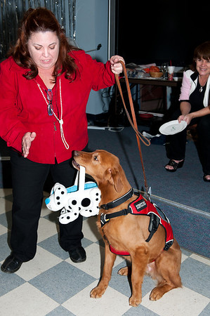 Cathi & Tango Linden setting off to collect donations @ VAP dessert auction-Snoqualmie, WA 10-15-2011