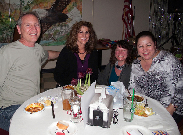 Doug Carr, Jody Runge, Karen Lee & Connie @ VAP's Chili Dinner & Dessert Auction<br /> Snoqualmie, WA - 2/2010