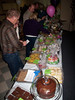dessert auction table & aspiring bidders @ VAP's Chili Dinner & Dessert Auction<br /> Snoqualmie, WA - 2/2010