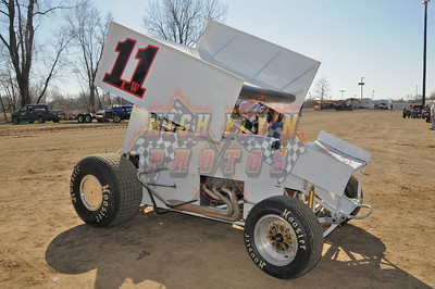 3-10-2012 Valley Practice Sprint Cars