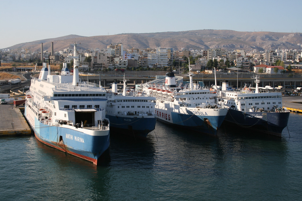 2009 - F/B ANTHI MARINA, MILENA, DIMITROULA, PANAGIA AGIASOU laid up in Piraeus.