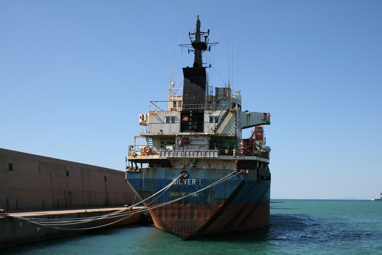 2011 - M/S SILVER I laid up in Civitavecchia, waiting for scrap.