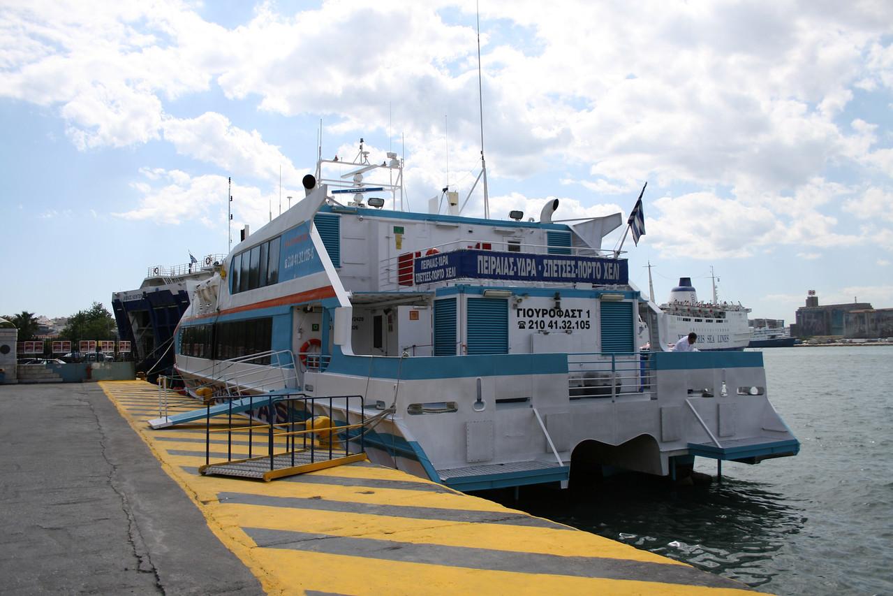 2008 - HSC EUROFAST I (IMO 9112026) in Piraeus, tours to Hydra, Spetses, Porto Heli.