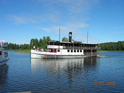 2006 - S/S TARJANNE : river route Tampere - Ruovesi - Virrat (in Finland)