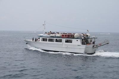 2009 - M/V MARIA MADRE sailing between Amalfi and Positano..