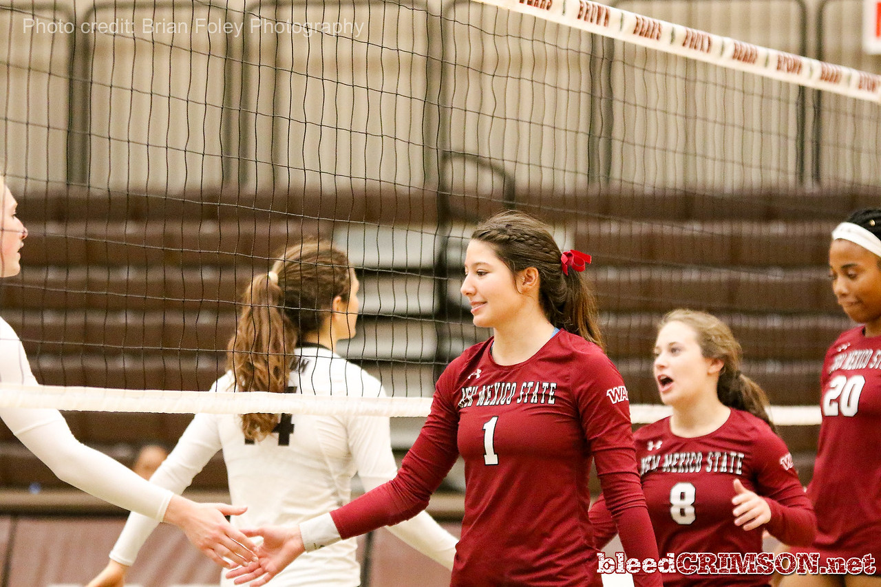 New Mexico State setter Brianna Ainsworth (1)