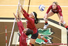 New Mexico State middle hitter Sasha-Lee Thomas (20)