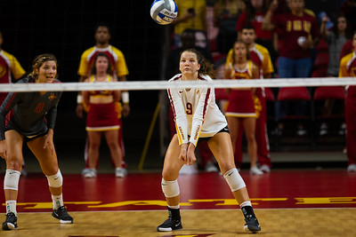 Scene from Iowa State vs UNI volleyball match at Hilton Coliseum in Ames, Iowa on September 10, 2019. Photo © Wesley Winterink.