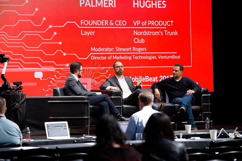 """#MB2017 @VentureBeat @RonP @TheRealSJR  """"Rethinking commerce: A playbook for shifting to a realtime, conversational approach to selling."""" With Justin Hughes, VP of Product, Nordstrom Trunk Club; Ron Palmeri, Founder and CEO, Layer, and Stewart Rogers, Director of Marketing Technology, VentureBeat.   See details"""