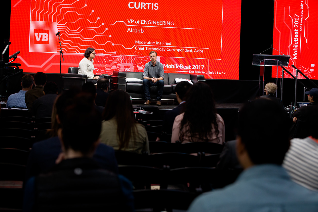 """#MB2017 @VentureBeat @inafried @mikecurtis """"Secrets of using AI: It's the data"""" with Mike Curtis, VP of Engineering atAirbnb, and Ina Fried, Chief Technology Correspondent at Axios."""