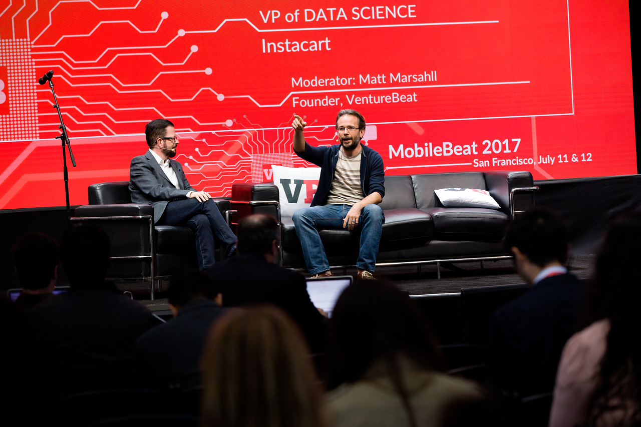 "#MB2017 @VentureBeat @TheRealSJR ‏@jeremystan @instacart Fireside Chat: ""How AI is changing the commerce experience"" with Jeremy Stanley, VP of data science at Instacart and Stewart Rogers, Director of Marketing Technology at VentureBeat."