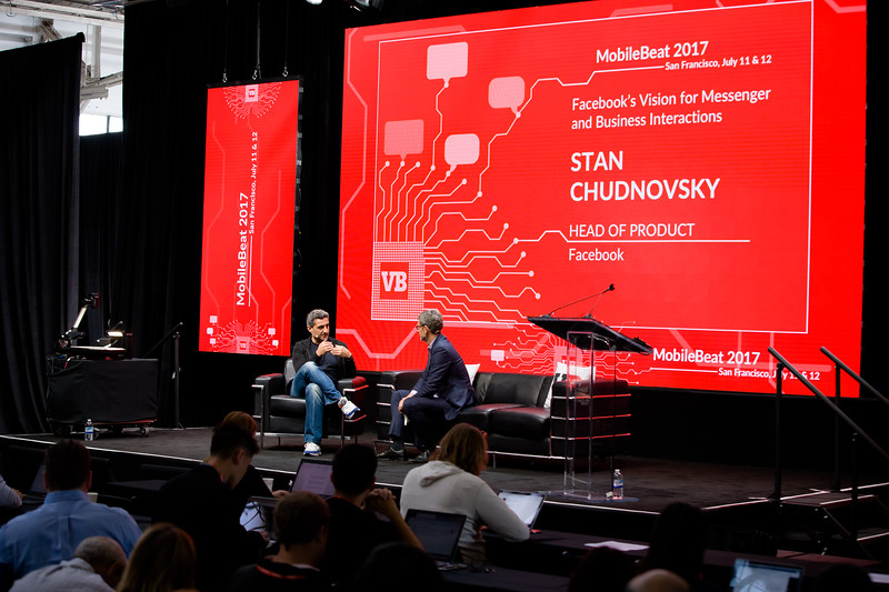 """#MB2017 @VentureBeat @Mmarshall @stan_chudnovsky Day 1 09:40a.m. Fireside Chat: """"Facebook's vision for Messenger and business interactions"""" with Stan Chudnovsky, Head of Product for Messenger, Facebook"""