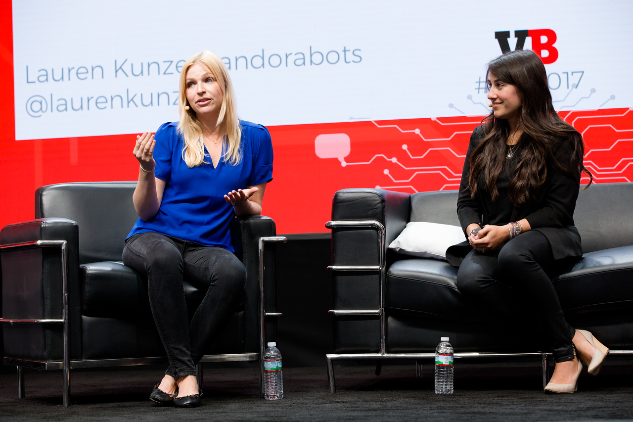 """#MB2017 @VentureBeat @laurenkunze  @Claradactyl """"Top 10 Battle Scars and how to avoid them"""" with Lauren Kunze, CEO of PandoraBots and Clara de Soto, Co-Founder of Reply.ai.  See details"""
