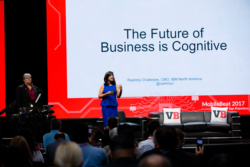"""#MB2017 @VentureBeat @RashmyC @IBM """"Real ROI from applied AI"""" with Rashmy Chatterjee, CMO North America IBM   See details"""