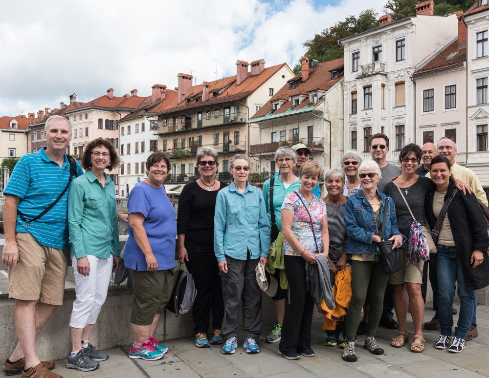 Tour of Ljubljana with our VBT group, Monday 9/5/16