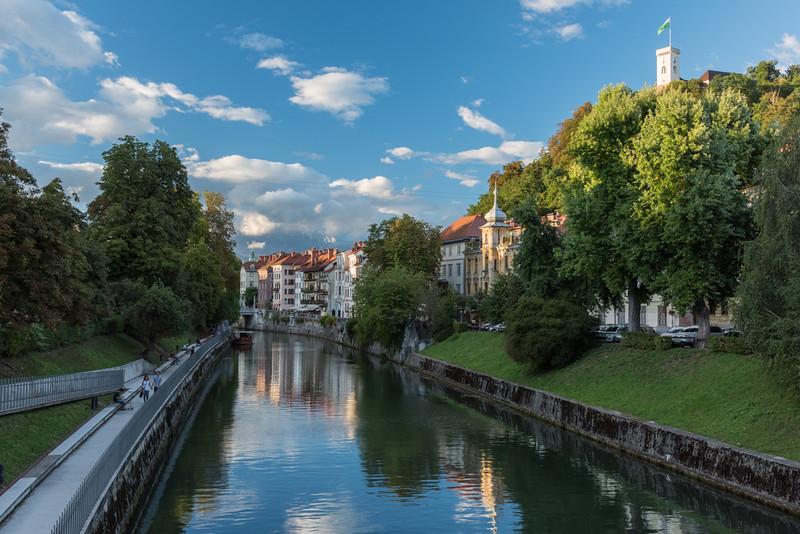 Ljubljanica River and Castle, Monday 9/5/16