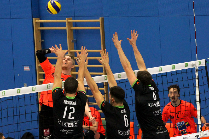 DenizBank AG Volley League Men 2017/18 UVC Holding Graz - SG VCA Amstetten NÖ/hotVolleys
