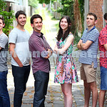 16-12-14. VCE 2014. From left: Daniel Kahan (KDS), Yakir Havin (Yeshivah), Daniel Tashlik (Bentleigh), Gabrielle Hyman (Bialik), Gidon Waller (Yavneh), Daniel Shell (Mt Scopus). Photo: Peter ...