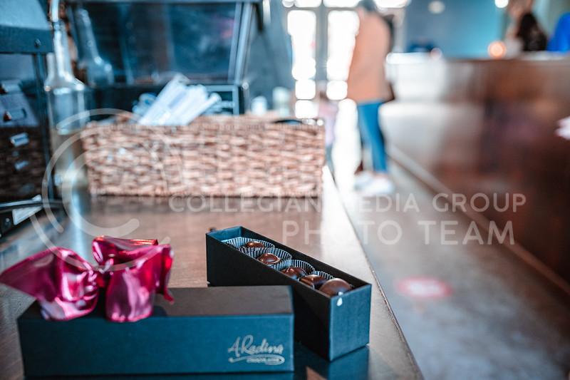 Manhattan, Ks, Radina's Bakehouse valentines day 12 piece chocolate box. Feb 13, 2020. (Dylan Connell | Collegian Media Group)