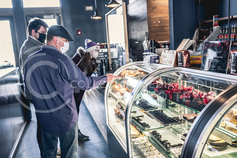 Customers view the pastries at Radina's Bakehouse. Feb 13, 2020. (Dylan Connell | Collegian Media Group)