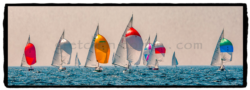 NM Sailboats - on VELLUM with Gesso