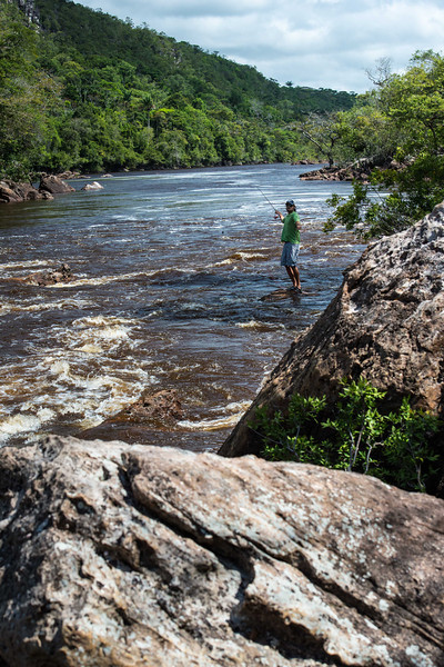 © Klug Photos – Uraima Falls, Venezuela – Fly Fishing for Payara