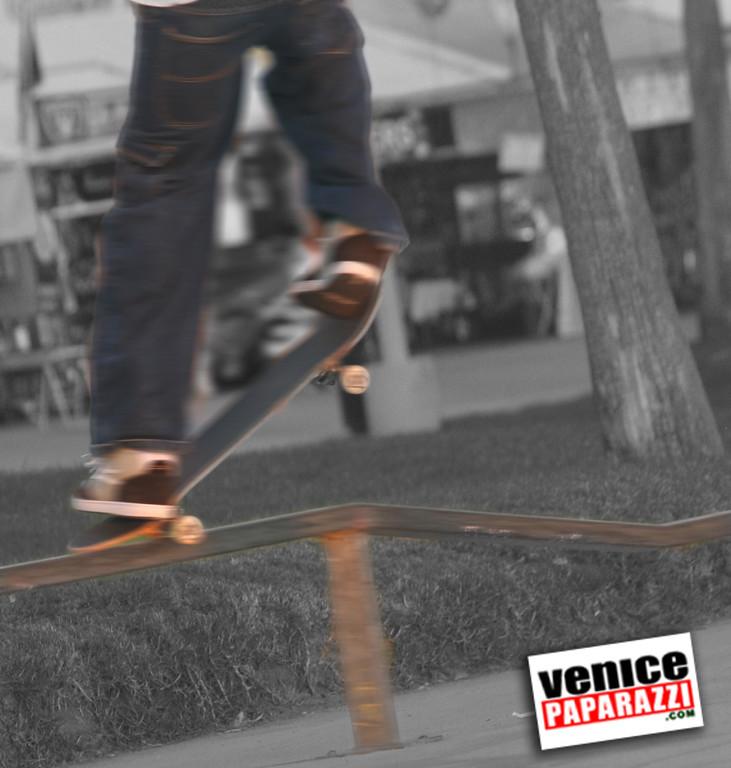 skateboarder on ramp