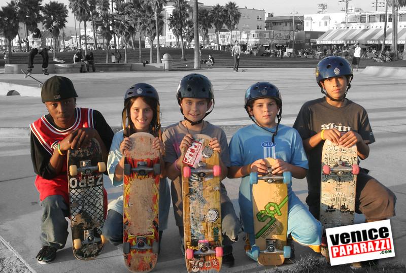 skatepark with kids