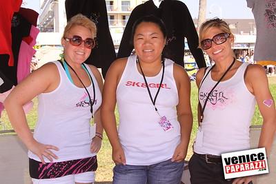 09 06 09  SuperGirl Jam Contest in Venice Beach   Lyn-z Adams Hawkins, Amy Caron, Venessa Torres, Lacey Baker Laurie Currier, Chanelle Sladics, Bryn Valaika and Raewyn Reid (4)