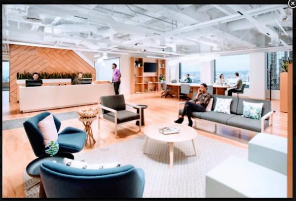 18th floor, common area, reception area