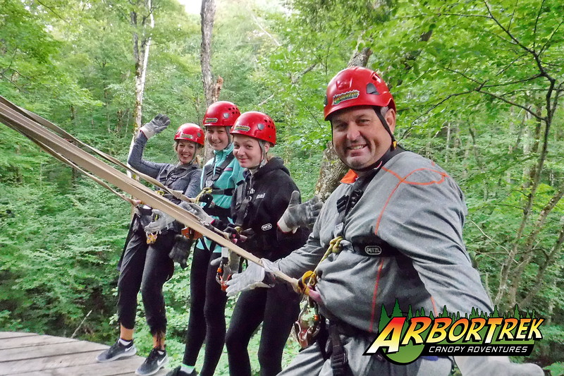 Zip Line Canopy Tour and Treetop Adventure Photos at ArborTrek/Smugglers' Notch near Stowe, Vermont