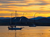 VT CHARLOTTE Essex_Charlotte Ferry Dock view of Lake Champlain and the Adirondack Mountains FERRY MAYAF_5182292MMW