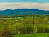 VT CHARLOTTE ON MOUNT PHILO view of Lake Champlain and the Adirondack Mountains MAYAF_5182002MMW