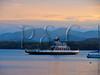 VT CHARLOTTE Essex_Charlotte Ferry Dock view of Lake Champlain and the Adirondack Mountains FERRY MAYAF_5182347MMW
