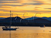 VT CHARLOTTE Essex_Charlotte Ferry Dock view of Lake Champlain and the Adirondack Mountains FERRY MAYAF_5182257MMW