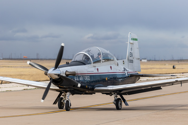 "-(Aircraft) Beechcraft T-6A Texan II<br /> -(Nation & Service) United States Air Force<br /> -(Squadron) 459th Flying Training Squadron ""Twin Dragons""<br /> -(Home Base) Sheppard Air Force Base, Texas"