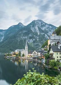 Austria Alpine Hallstatt Water Mountains Lake