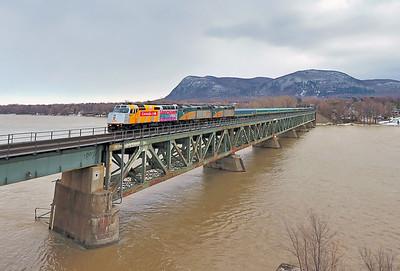 VIA Rail Ocean, Beloeil, Quebec, February 27 2017.