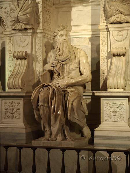 Moises de Miguel Angel. Iglesia de San Pietro in Vincoli