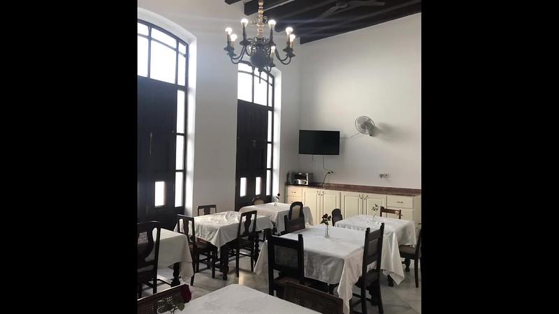 VIDEO; Cuba, havana, hotel El Encanto, and street Perseverancia,February 2019.
