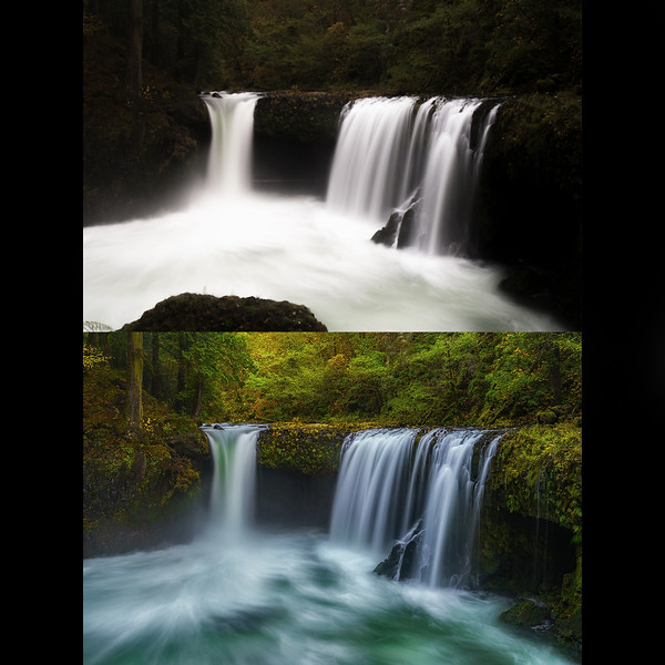 Before and After intelligent post-processing development!