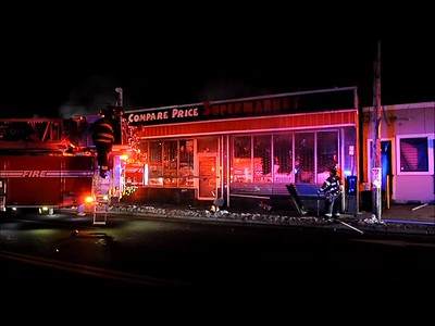 VIDEO WESTBURY FD MARKET FIRE