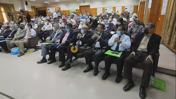 International Infection Prevention Week inside Shifa Hospital, in Gaza city