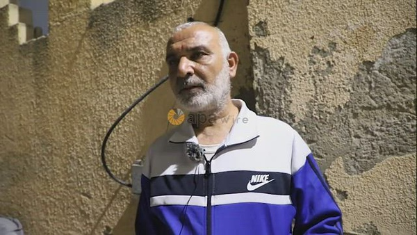Father of Ayham Kamamji, one of six Palestinian prisoners escaped from Israeli jail, speaks during an interview