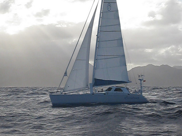 A57, Cerulean, sailing down the windward side of Dominica