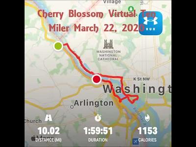 Cherry Blossom Virtual Ten Miler MAR 22 2020